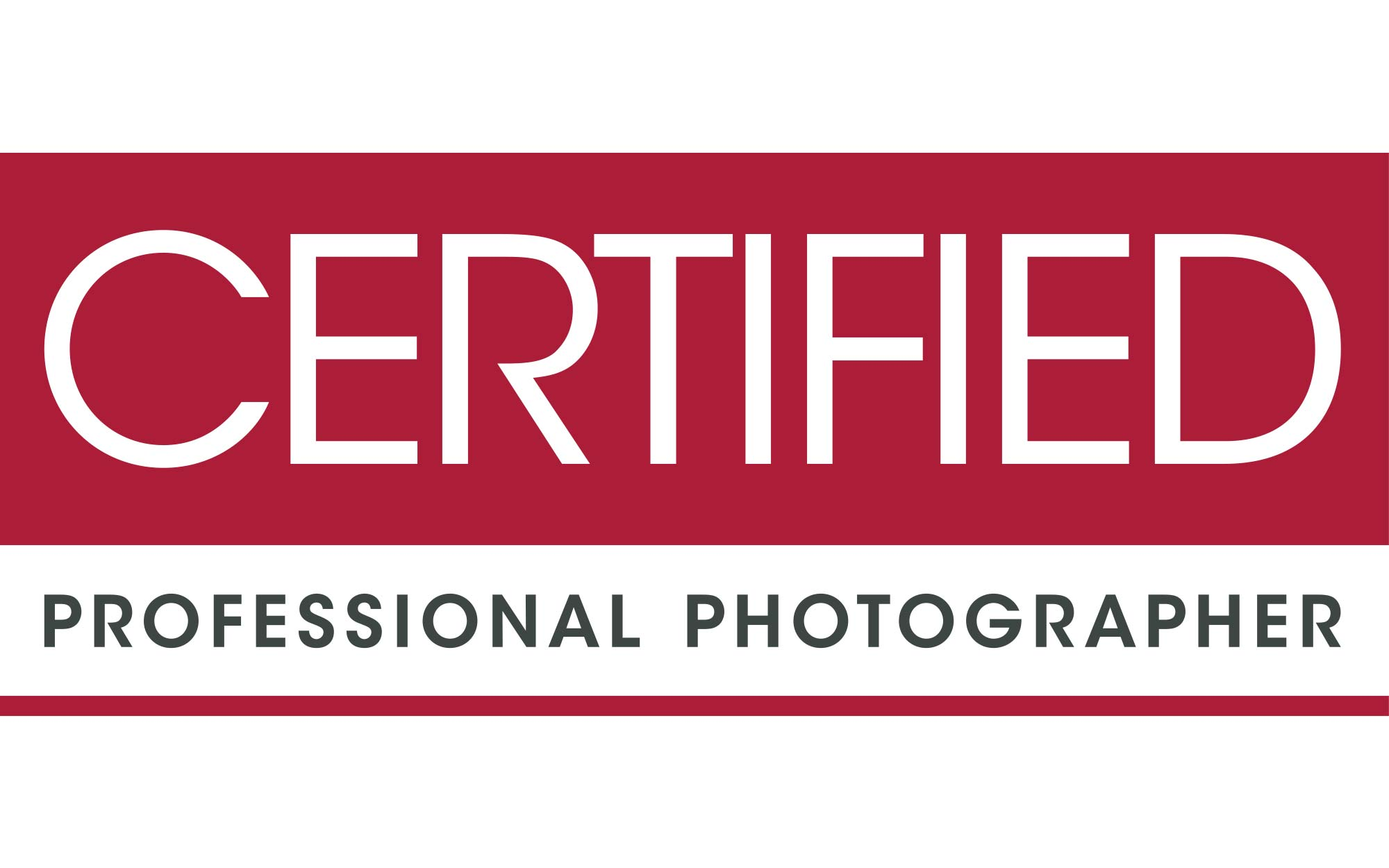 Certified Professional Photographer Logo for Blog